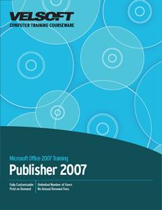 Publisher 2007 - Advanced