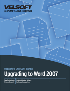 Upgrading to Word 2007