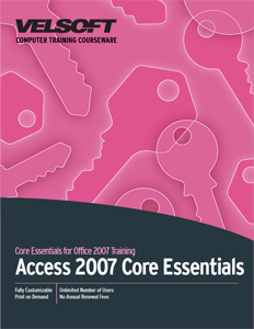 Access 2007 Core Essentials