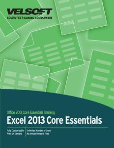 Excel 2013 Core Essentials