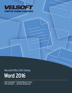 Microsoft Word 2016: Part Three
