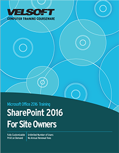 Microsoft SharePoint 2016 For Site Owners