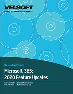 Microsoft 365: 2020 Feature Updates