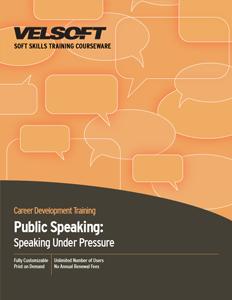 Public Speaking: Speaking Under Pressure