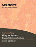 Hiring for Success - Behavioral Interviewing Techniques